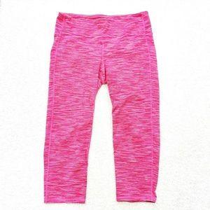 Athleta Energy Pink Chaturanga Capri Pants